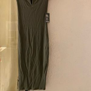 Express Olive Green Dress BodyCon